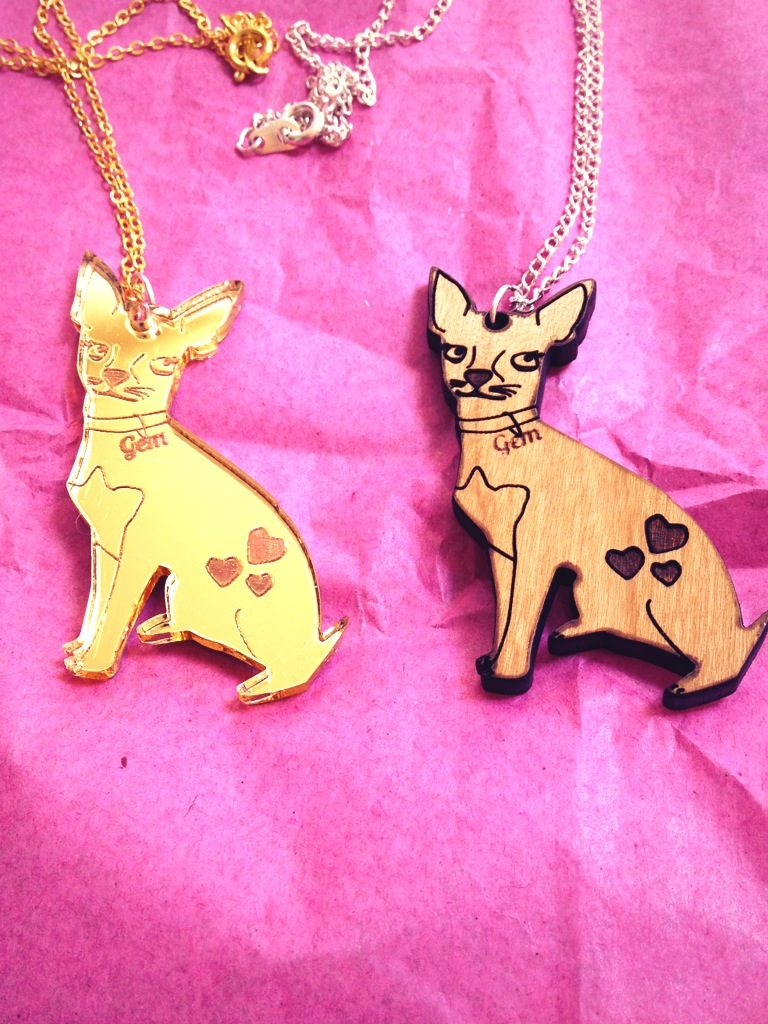 Cat-a Cake Creations – Chihuahua necklaces!
