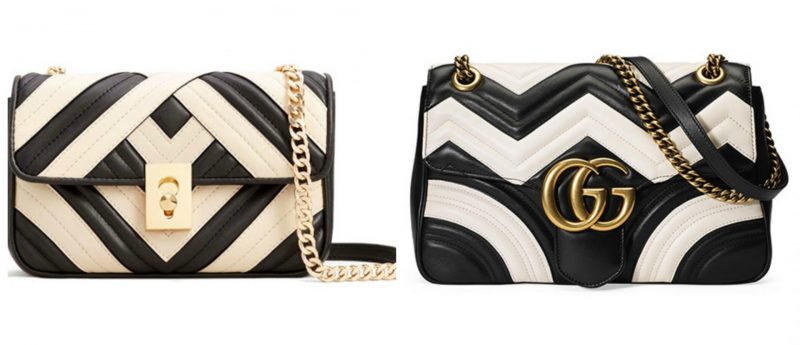 Mango quilted cross body bag handbag dupes and Gucci Marmont