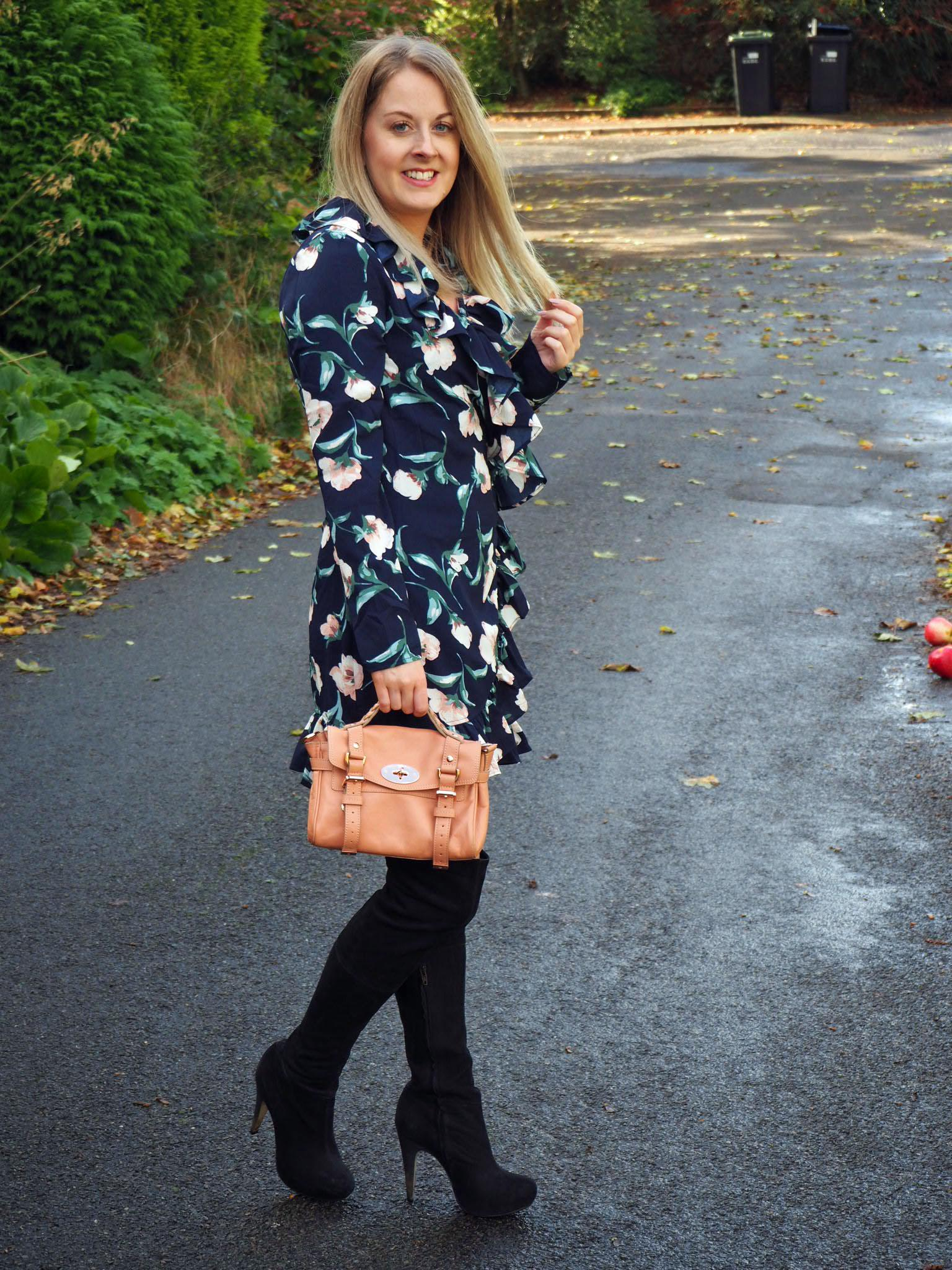 Navy floral pretty little thing dress