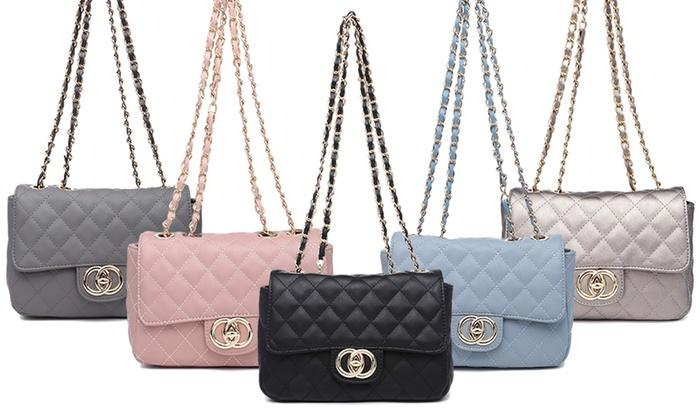 faux leather quilted handbags