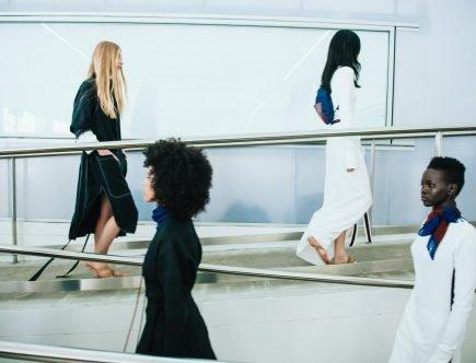 women on catwalk
