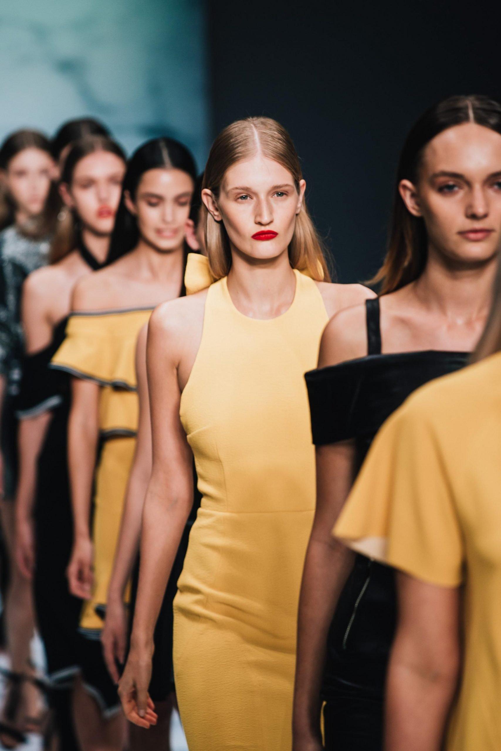 Models on catwalk